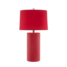3 Way Diamond Patterned Ceramic Table Lamp