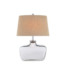 "3-Way Cork Glass 27"" Table Lamp with Oval Shade"