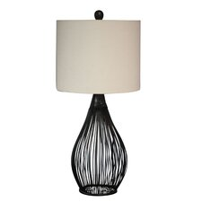Metal Mesh Table Lamp with Dum Shade