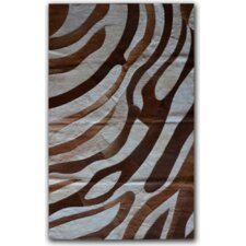 Brown/White Safari Rug