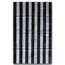 Black/White Stripe Rug