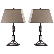 "Jamesville 30.5"" H Table Lamp with Rectangular Shade (Set of 2)"