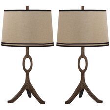 "Packwood 33"" H Table Lamp with Empire Shade (Set of 2)"