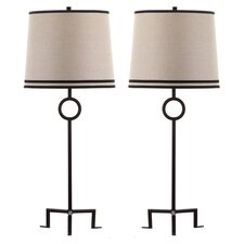 "Shotwell 36"" H Table Lamp with Empire Shade (Set of 2)"