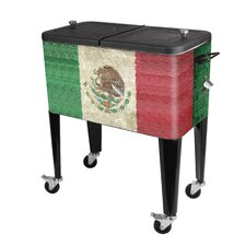 Mexico Flag 60 Qt. Rolling Patio Cooler
