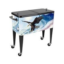 Flying Free Above the Cloud 80 Qt. Rolling Patio Cooler