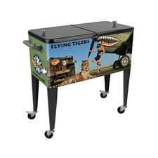 Warbird Pinup Girls Flying Tiger 80 Qt. Rolling Patio Cooler