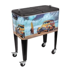 Buttercup Buick 60 Qt. Rolling Patio Cooler