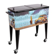 Buttercup Buick 80 Qt. Rolling Patio Cooler