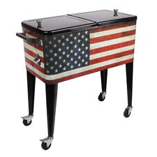 Old Glory 80 Qt. Rolling Patio Cooler