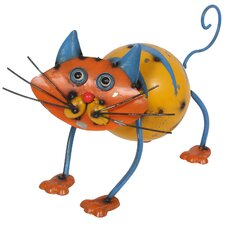 Steel Colin the Cat Figurine