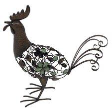 Steel Strutting Rooster Figurine