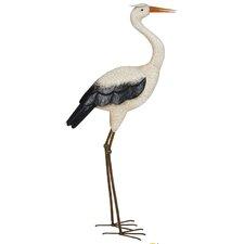 Steel Heron Figurine