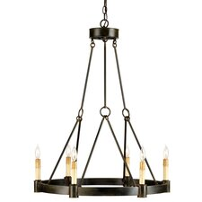 <strong>Currey & Company</strong> Chatelaine 6 Light Candle Chandelier