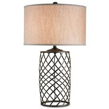 "Dashiell 35"" H Table Lamp with Drum Shade"
