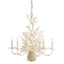 <strong>Currey & Company</strong> Seaward 6 Light Candle Chandelier