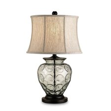 "Vetro 25"" H Table Lamp with Bell Shade"