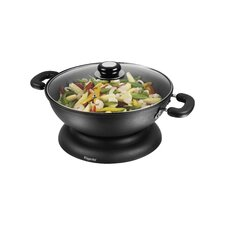 30cm Round Electric Wok in Black