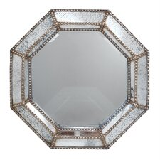 Stunningly Designed Studded Wall Mirror