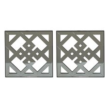 Mirror 2 Piece Wall Décor (Set of 2)