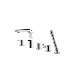Serie 195 Three Handle Deck Mount Roman Tub Filler