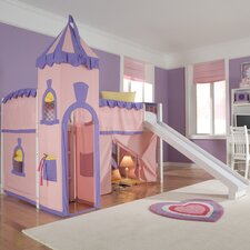 <strong>NE Kids</strong> School House Twin Princess Low Loft Bed with Slide