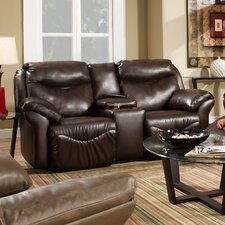 <strong>Southern Motion</strong> Big Time Lay Flat Console Reclining Loveseat