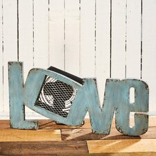 Figurine Love Wood Fan