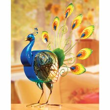 Figurine Peacock Table Fan