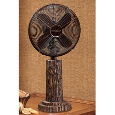"10"" Fir Bark Table Fan"