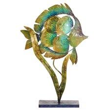 "Capiz Shell Tropical Fish Luminary 17.75"" H Table Lamp"
