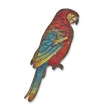 Parrot Wood Magnet Wall Clock