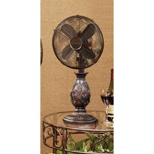 "10"" Fleur De Lis Table Fan"