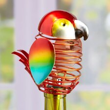 Figurine Metal Parrot Wine Bottle Topper