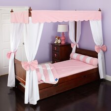 Princess Poster Bed with Canopy and Corner Fabric