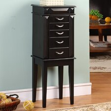 Grand 5 Drawer Jewelry Armoire with Mirror