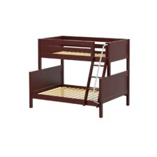 SLOPE Twin Over Full Panel Bunk Bed with Angle Ladder