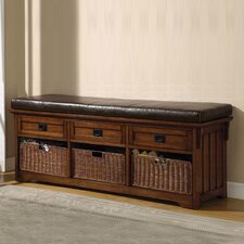 Upland Wooden Entryway Storage Bench