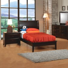 Applewood Platform Bed in Rich Deep Cappuccino