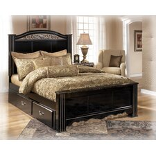 Park Poster Footboard in Deep Glossy Black