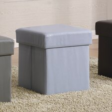Normangee Faux Leather Cube Ottoman
