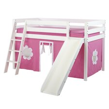 Princess Twin Loft with 1/2 Guard Rail and Slide