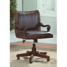 Angelina Mid-Back Leather Executive Office Chair
