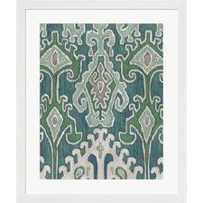 Emerald Ikat II by Chariklia Zarris Framed Painting Print
