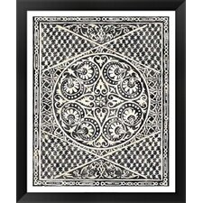 Woodcut in Black II by Chariklia Zarris Framed Painting Print