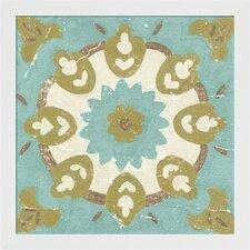 Rustic Tiles III by Chariklia Zarris Framed Painting Print