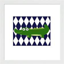 Funky Alligator Framed Art