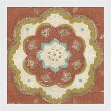 Rustic Tiles VI by Chariklia Zarris Framed Painting Print