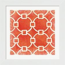 Small Modern Symmetry VIII by Chariklia Zarris Framed Graphic Art