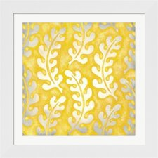 Classical Leaves I by Chariklia Zarris Framed Graphic Art